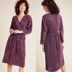 Anthropologie Caara Gillian Pleated Midi Dress NWT